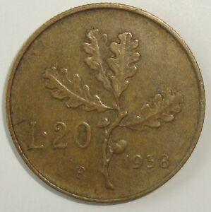 1958-ITALY-20-LIRE-NICE-WORLD-COIN