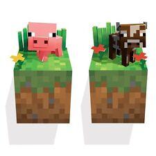 Minecraft Wall Cling Decal Sticker Baby animals pig cow Vinyl 3D Art Toy Decals