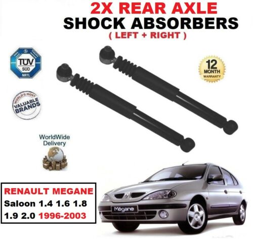 REAR LEFT RIGHT SHOCK ABSORBERS for RENAULT MEGANE 1.4 1.6 1.8 1.9 2.0 1996-2003