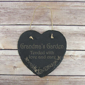Personalised-Birthday-Home-Gift-Grandma-039-s-Garden-Slate-Hanging-Sign-Plaque