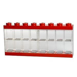 Grand-Lego-Rangement-16-Figurine-Boite-de-Presentation-Rouge