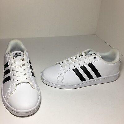 Adidas Women Neo CF Advantage Sneakers Shoes White Black Stripe Size 7.5 US | eBay