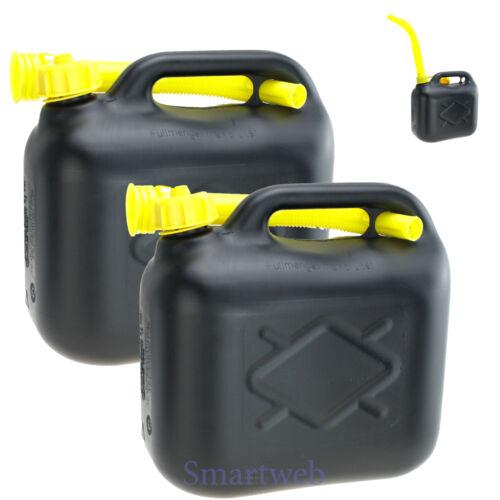 2er Set 20 Liter Kanister Benzinkanister Dieselkanister mit Trichter Kunststoff