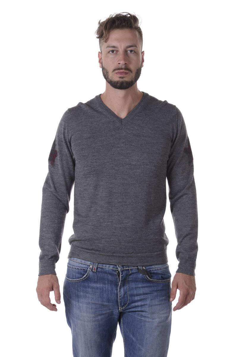 Maglia Daniele Alessandrini Sweater Lana ITALY men grey FM73134U3605 49