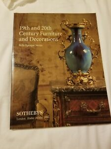 Sothebys Auction Catalog 19th And 20th Century Furniture And Decorations Ebay