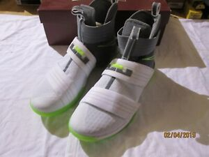 lowest price 1ca33 423c1 Image is loading Nike-LeBron-Soldier-X-10-SFG-Dunkman-White-