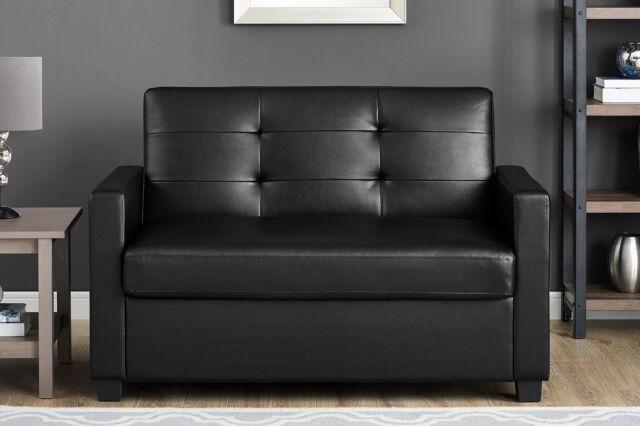 Cool Sofa Bed Sleeper Couch Twin Loveseat Brown Luxury Leather Memory Foam Mattress Machost Co Dining Chair Design Ideas Machostcouk