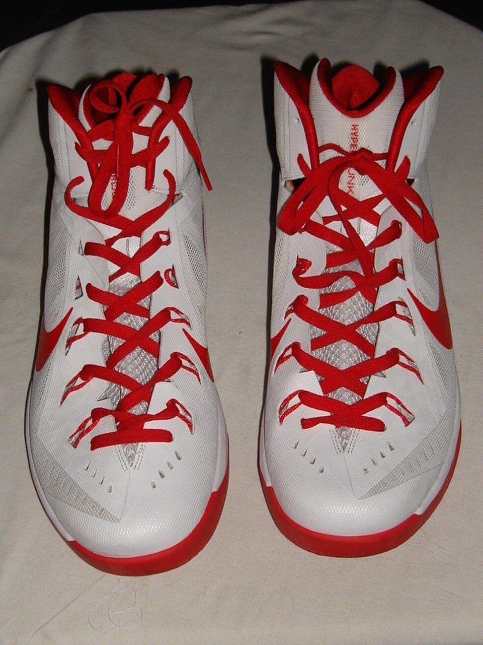 Nike hyperdunk 2014 tb - lunarlon weiß / rot - tb basketball - schuhe sz.17. d32973