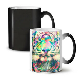 Psychedelic Tiger NEW Colour Changing Tea Coffee Mug 11 oz | Wellcoda