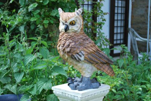 Hibou immense comme la vie 42cm uhu Jardin Figurine Décoration stand personnage tierfigur personnage