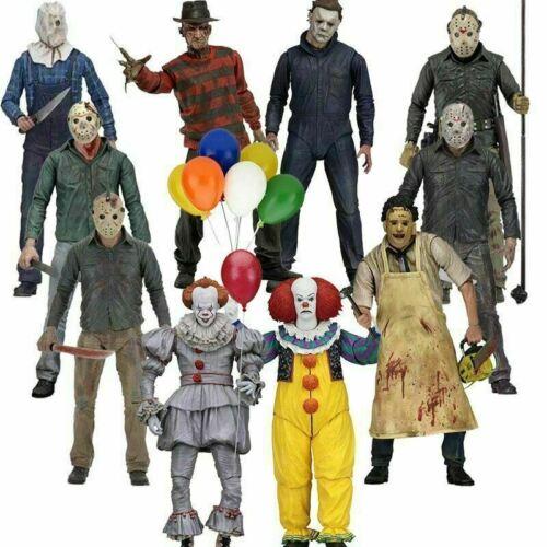 "2 Deluxe 3D versione Box-Set Horror Figura NECA-IT Pennywise Clown 7/"""