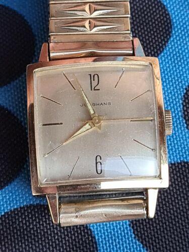 JUNGHANS watch cal 93S1 plaqué or très bon état Prima Flex Bracelet
