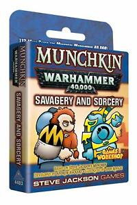 Savagery-amp-Sorcery-112-Card-Booster-Munchkin-Warhammer-40000-Game-Steve-Jackson
