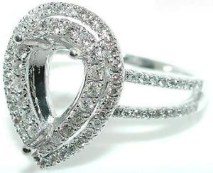 50-CT-PEAR-DOUBLE-HALO-DIAMOND-Mounting-RING-Setting