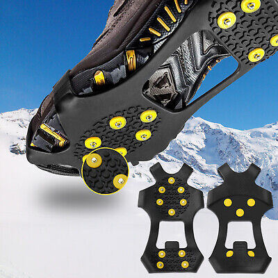 YYOJ Ice Grippers ice grips for shoes ice /& snow grips,Anti Slip 10-Studs TPE Rubber Crampons