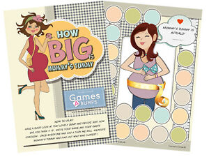How-Big-Is-Mummy-039-s-Tummy-Baby-Shower-Party-Game-Measure-Bump-Girl-Boy-Unisex