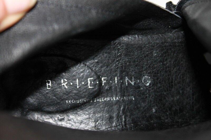 Mi Bottes BRIEFING GALERIES LAFAYETTES  Cuir Noir Bouts Carrés TBE  T 40.5  TBE Carrés 6a454a