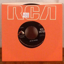 """Jim Ed Brown You'll Never Know / The Cajun Stripp 7"""" 45 RCA with label sleeve EX"""