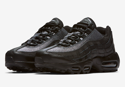 New Women's Nike Air Max 95 SE Glitter Black AT0068 001
