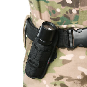 Tactical-LED-Flashlight-Torch-Lamp-Nylon-Pouch-Holster-Belt-Carry-Case-Holder-SA