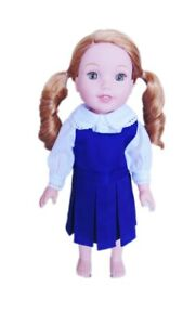 Blue-Jumper-Set-for-Wellie-Wisher-Dolls-14-5-Inch-Doll-Clothes