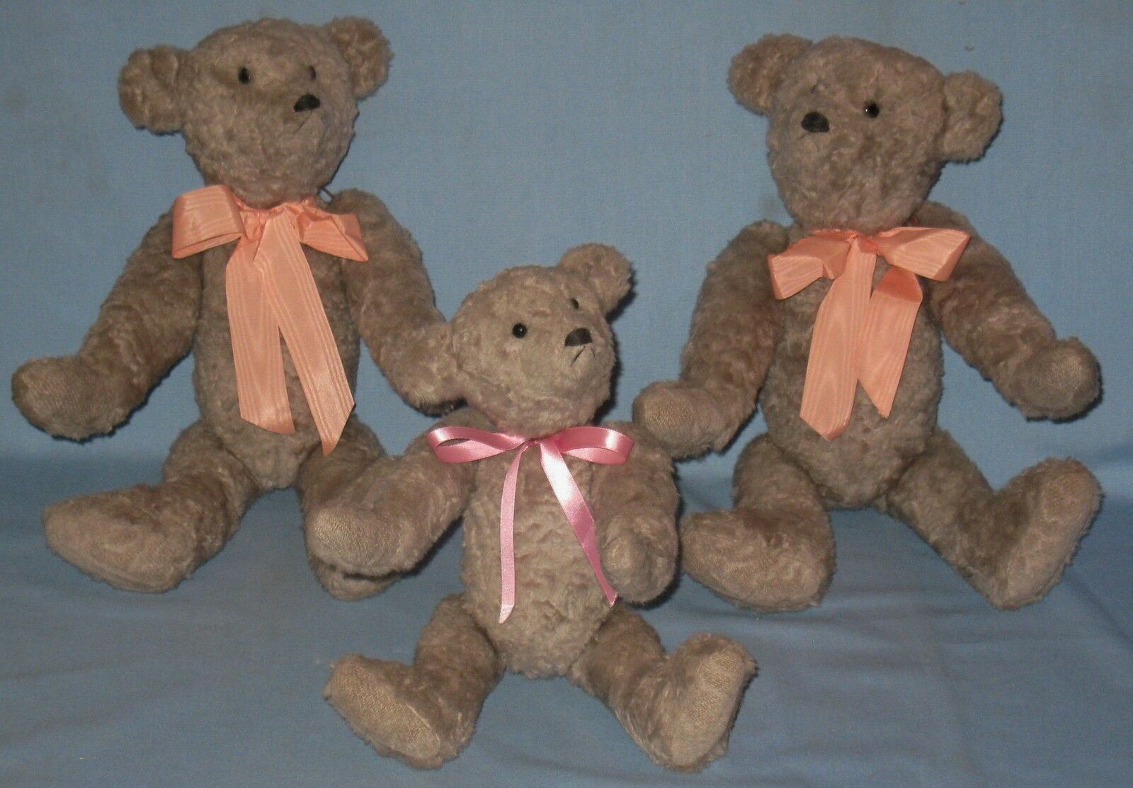 VINTAGE 3-BEAR FAMILY SET A.T.B.A.G. LABEL SIGNED ARTIST  312 w/TAG 1-6-89