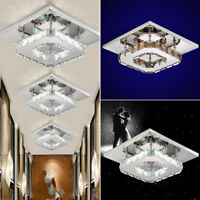 Newly LED Flush Ceiling Light Pendant Fixture Lighting Crystal Chandelier Lamp