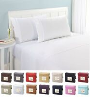 1500 Thread Count 4pc Egyptian Quality Bed Sheet Set Deep Pocket Queen King Full