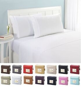 Image Is Loading 1500 Thread Count 4pc Egyptian Quality Bed Sheet