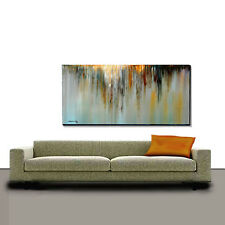ABSTRACT Original Acrylic Painting Large 24 x 48 Water fall Art by Thomas John