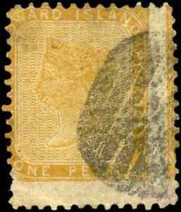 Prince-Edward-Island-4-used-MISPERF-1862-Queen-Victoria-1d-yell-orange-MISPERF