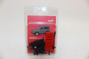 Herpa-013086-MINIKIT-MERCEDES-BENZ-Modelo-G-Rojo-1-87-H0-nuevo-emb-orig