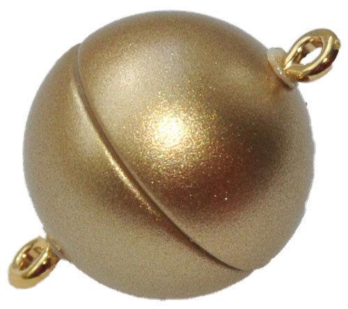 9321-12 MM KUNSTSTOFF MAGNET KUGEL SCHLIESSE GOLD MATT