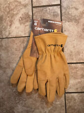Nwt Mens Carhartt Large Synthetic Suede Work Glove System 5 Fencer Brown Tan