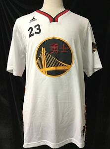 best sneakers 9f2c2 28e2a Details about Golden State Warriors adidas Home Chinese Heritage #23 Green  Swingman Jersey XL