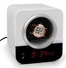 Precision Watch Winder for Single Automatic Timepiece - w/Built-In IC Timer & Re