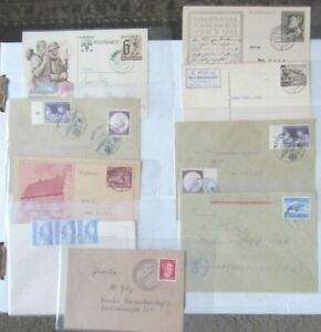 Germany-To-U-S-1941-Covers-Letters-Stamps-Correspondence-WW2-Postal-History