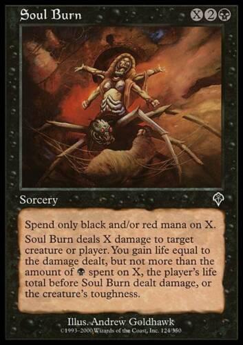 4x Soul Burn MTG Invasion NM Magic Regular