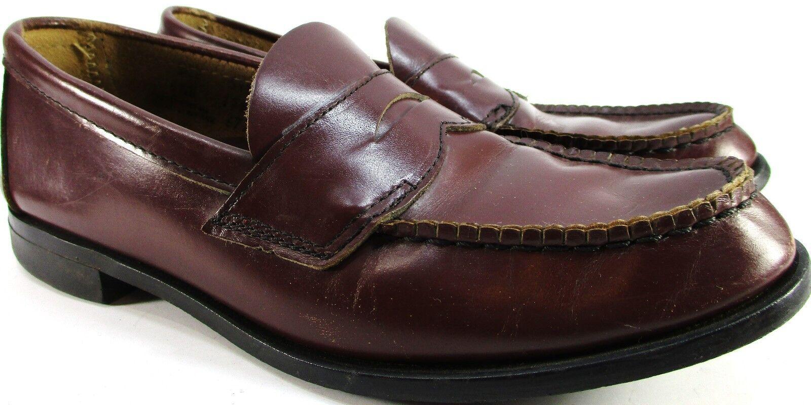 Crosby Square Junior Uomo Penny Loafers Taglia 5.5 D marrone Style 6720 Made USA