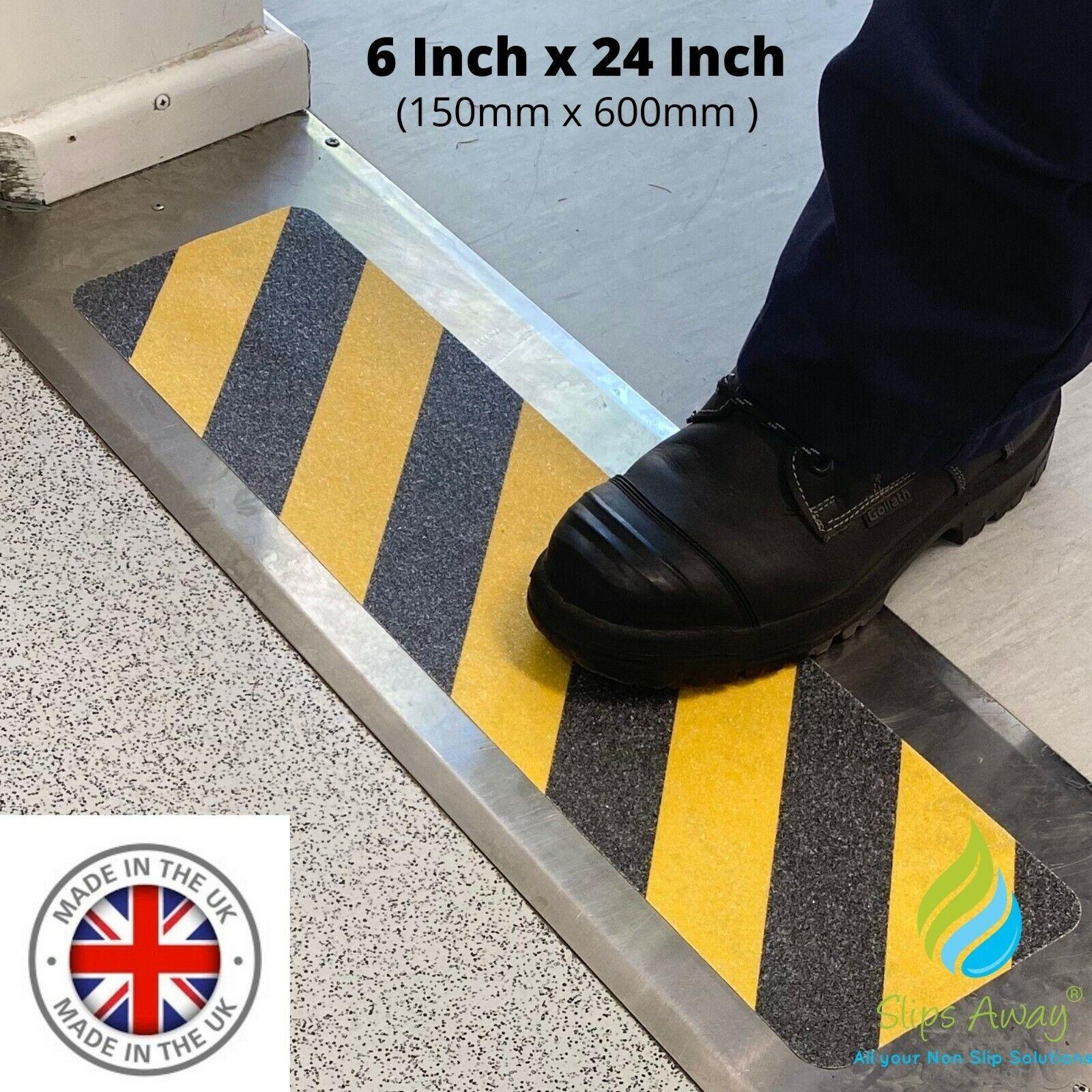 Anti Non Slip Tape Hazard Yellow Black Warning Cleat Treads Steps Stairs Ramps