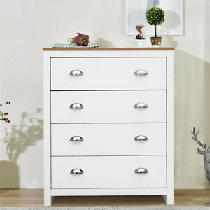 Image Is Loading 2 4 Drawers Tall Bedside Tables White Amp