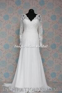 1528-White-Ivory-wedding-dress-vintage-lace-wedding-dress-with-long-sleeves-new