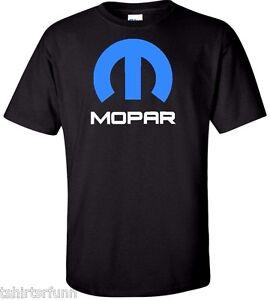 Mopar-Dodge-Chrysler-Car-Logo-Hemi-Ram-Truck-Mens-T-Shirt-Tee-Retro-White-Black