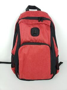 Details about Nike Air Jordan Backpack Book Bag Laptop storage School Bag  Red Black 9A1456-R78 f6bc904b0314a