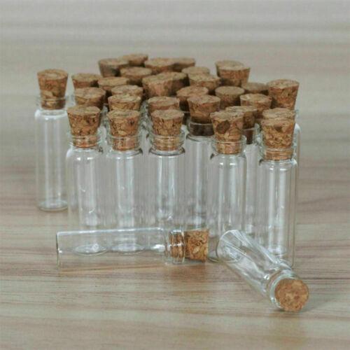 50-200Pcs 2 ml clair petites bouteilles en verre avec bouchons conteneurs bocaux Bouteilles Flacons