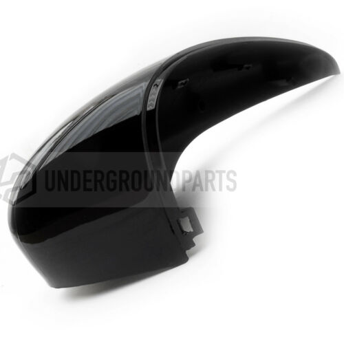 SHADOW BLACK RIGHT DRIVERS SIDE DOOR WING MIRROR COVER CAP FOR FORD FIESTA MK7