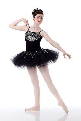 Black Swan Lake Ballet Tutu Nutcracker Christmas Dance Costume Adult XL & 2XL