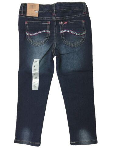 Lee Little Girls Stretch Dark Embellished Skinny Print Jeans Jeggings