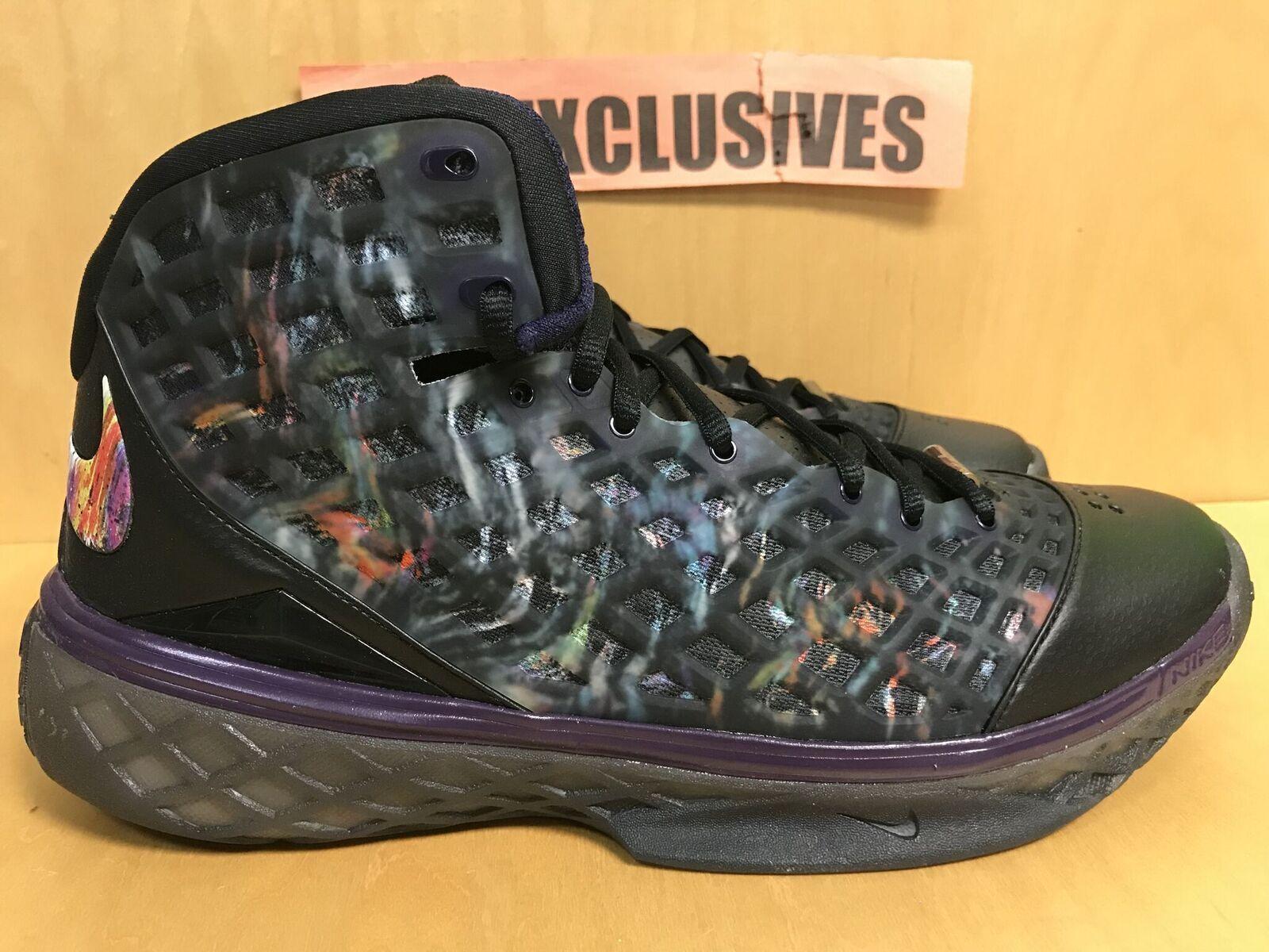 Nike Zoom Kobe 3 Prelude Black Multi color Imperial Purple 640551-005 Size 10.5