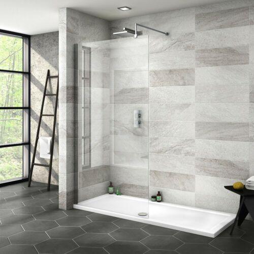 1000mm Wetroom Glass Walk In Shower Door Free Waste 1800 x 800mm Tray